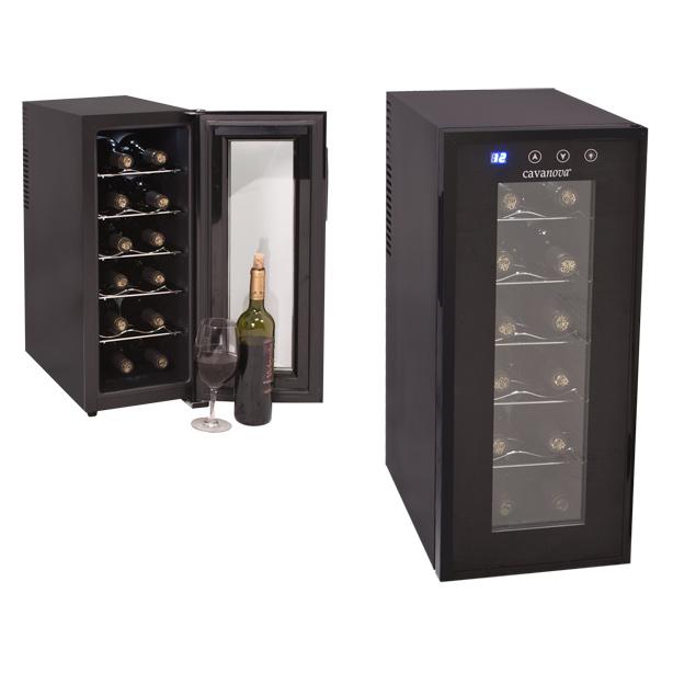 Cava para 12 botellas cv012ns cavanova - Cavas de vino para casa ...